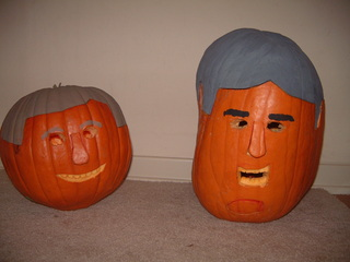 Bush and Kerry Pumpkins