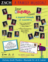 Dear Edwina, a family musical at the Zachary Scott Theater