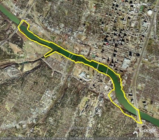 Mopac to I35 loop, viewed from Google Earth