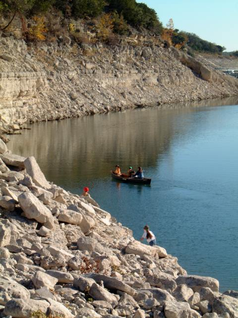canoe on Lake Travis