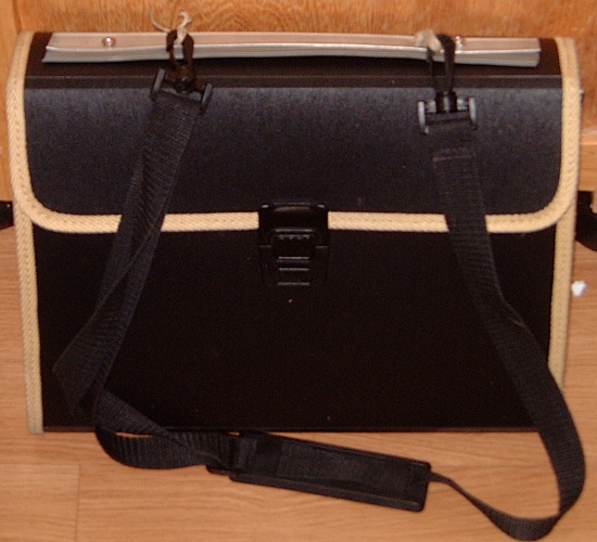 portfolio, with jury-rigged handle