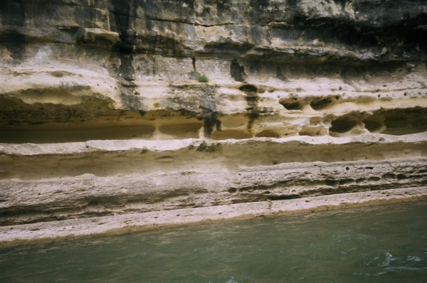 cliffs along the Guadalupe River