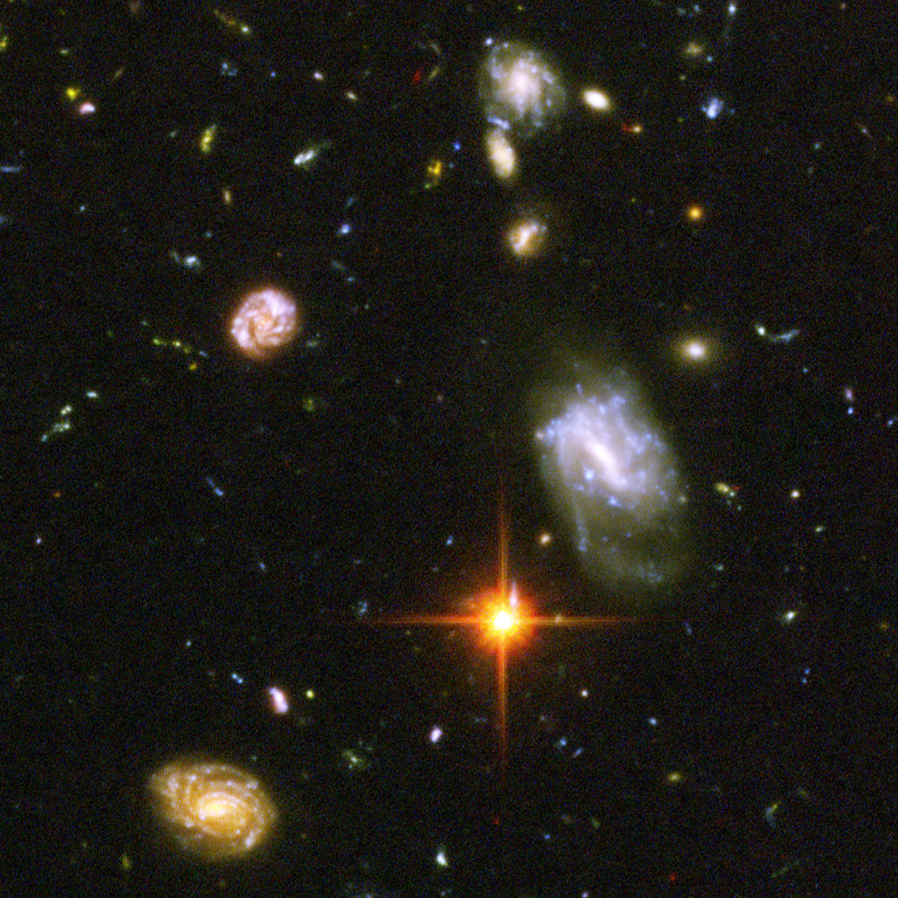 Collision with a Spiral Galaxy