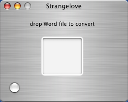 Strangelove.app accepts Word files