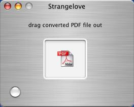 Strangelove.app produces PDF